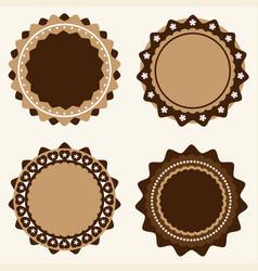 set of vintage and modern logo badges and labels vector image