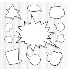 A Collection of Comic Style Speech Bubbles vector image