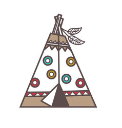 Traditional indian lodge vector