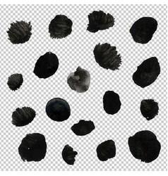 Big black blob collection vector
