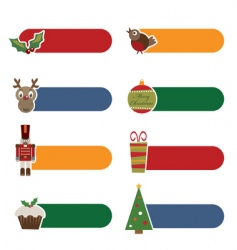Christmas tabs vector image