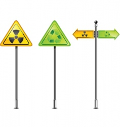 nuclear sign vector image