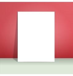 Paper mockup hanging vector