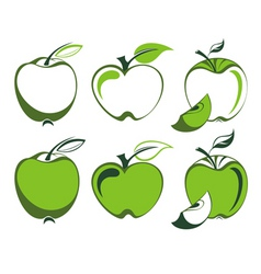 Apple set vector