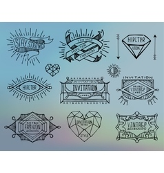 Abstract retro vintage labels insignias vector