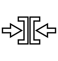 Pressure arrows horizontal stroke icon vector