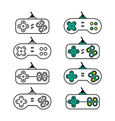 Joystick video game console vector