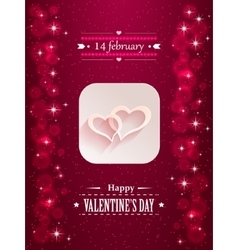 Design with hearts and flares for valentine s day vector