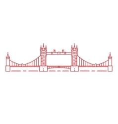 tower bridge London vector image