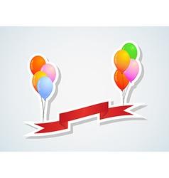 balloons and ribbon vector image vector image