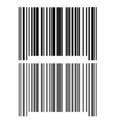 Black grey bar code icon vector