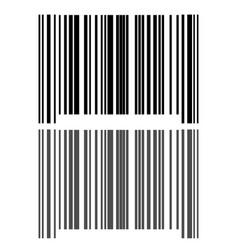 black grey bar code icon vector image