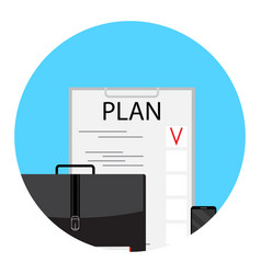 business plan and project vector image vector image