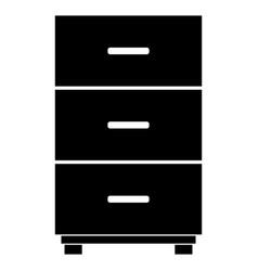 Cabinet the black color icon vector