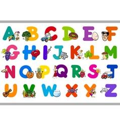 Cartoon alphabet for children vector