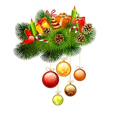 Christmas branches of fir-tree vector image vector image