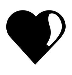 cute heart icon vector image