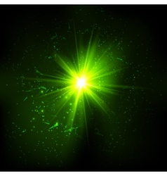 Dark green space explosion vector image vector image