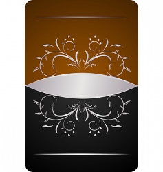 decorative card or invitation vector image vector image