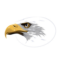 design element eagle on white background vector image