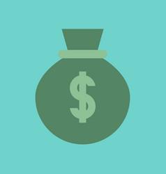Flat icon on stylish background money bag vector