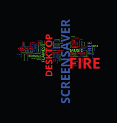 free fire screensaver text background word cloud vector image