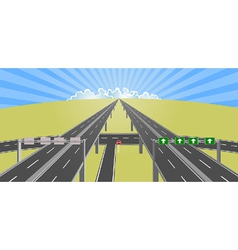 highway to horizon vector image vector image