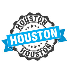 Houston round ribbon seal vector