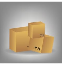 icon of boxes vector image