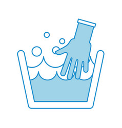 Laundry tank with gloves vector