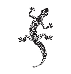 Lizard reptile tattoo decorated geometric ornament vector