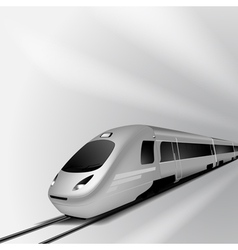 Modern high speed train 2 vector image