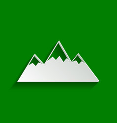 Mountain sign paper whitish vector