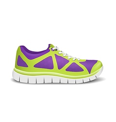 Realistic bright sport sneakers for running vector image vector image