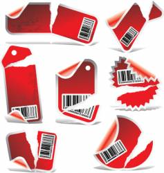 Ripped labels vector