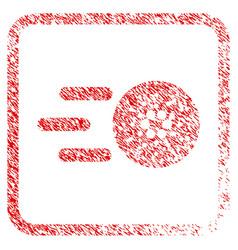 Send cardano framed stamp vector