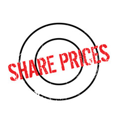 Share prices rubber stamp vector