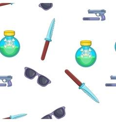 Spy tools pattern cartoon style vector