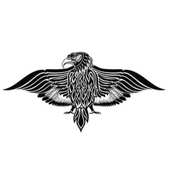 Tattoo eagle bird vector