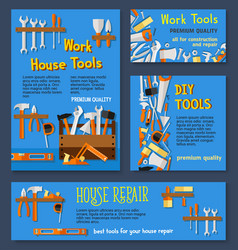 templates of house repair work tools vector image