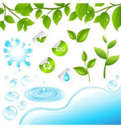 water elements vector image vector image