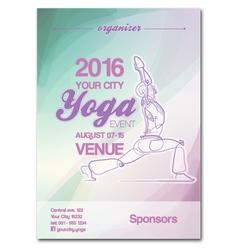 Yoga event poster blue green purple vector