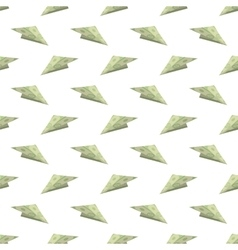 Dollar paper concept plane seamless pattern vector