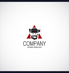 ushanka man company logo vector image