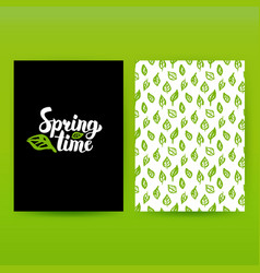 Spring time green poster vector