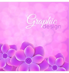 purple background with flowers vector image