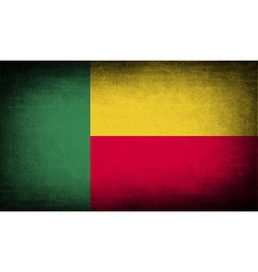 Flag of benin with old texture vector