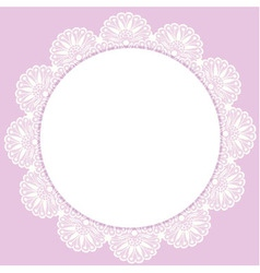 White round lacy frame vector