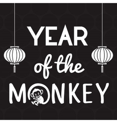Year of the monkey design vector