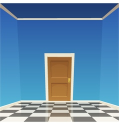Room door - blue vector